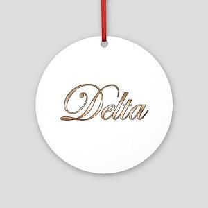 Gold Delta Round Ornament