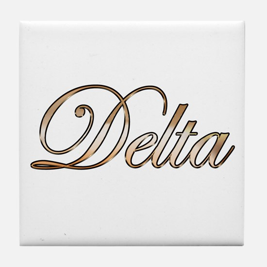 Gold Delta Tile Coaster