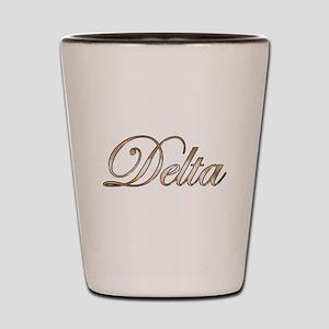 Gold Delta Shot Glass