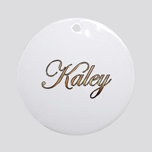 Gold Kaley Round Ornament