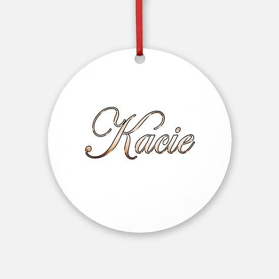Gold Kacie Round Ornament