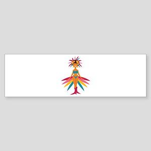 Carnival Woman Bumper Sticker