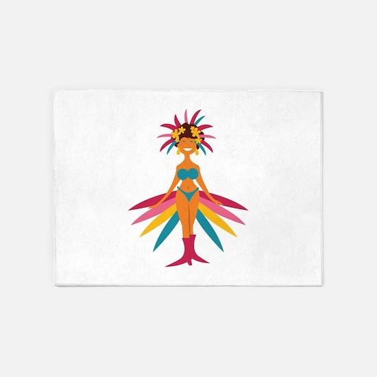Carnival Woman 5'x7'Area Rug