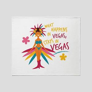 Stays In Vegas Throw Blanket