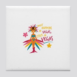 Stays In Vegas Tile Coaster