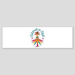 Celebrate In Style Bumper Sticker