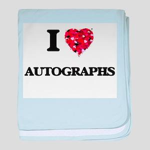 I Love Autographs baby blanket