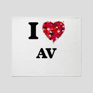 I Love Av Throw Blanket