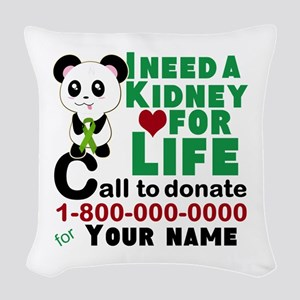 Personalize, Kidney Donation Woven Throw Pillow
