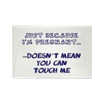Just Because I'm Pregnant... Rectangle Magnet (100