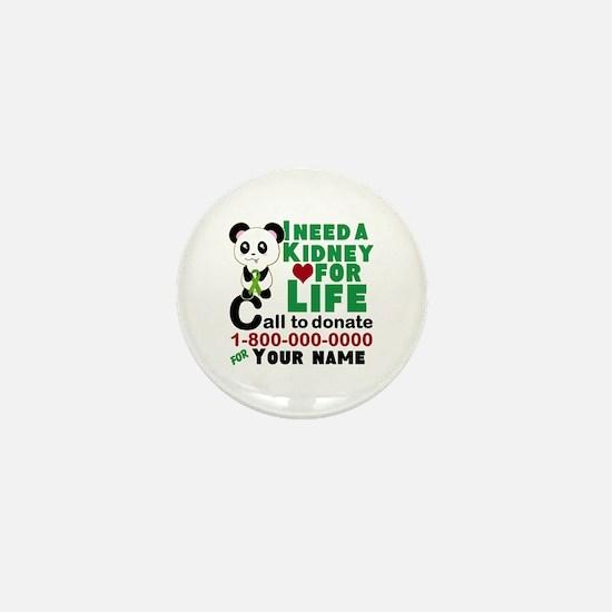 Personalize Kidney Donation Sign Mini Button (100