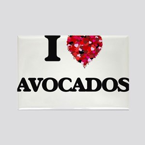 I Love Avocados Magnets