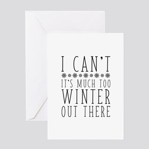 Much Too Winter Greeting Card