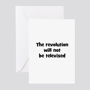 The revolution will not be te Greeting Cards (Pk o