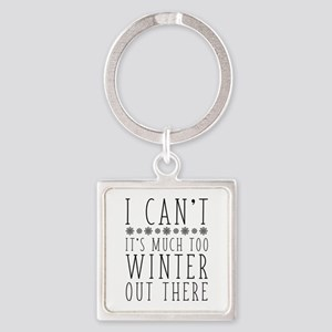 Much Too Winter Square Keychain