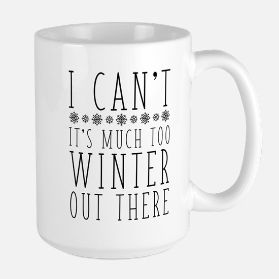 Much Too Winter Large Mug