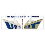 THE UNITED FLEET Bumper Sticker