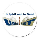 THE UNITED FLEET Round Car Magnet