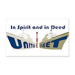 THE UNITED FLEET Rectangle Car Magnet