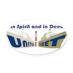 THE UNITED FLEET Oval Car Magnet