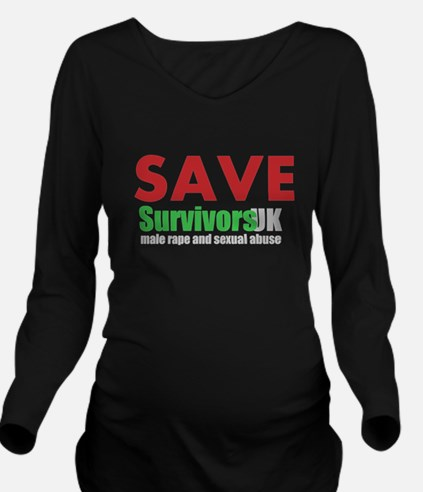 Save Survivors UK Long Sleeve Maternity T-Shirt