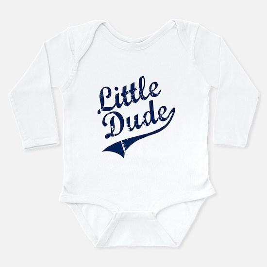 LITTLE DUDE (Script) Long Sleeve Infant Bodysuit