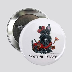 Celtic Scottish Terrier Button