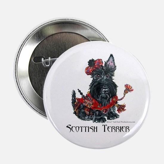 Celtic Scottish Terrier Button