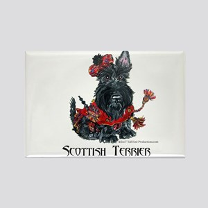 Celtic Scottish Terrier Rectangle Magnet