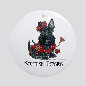 Celtic Scottish Terrier Ornament (Round)