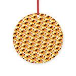 Fire Clownfish Pattern Ornament (Round)