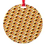 Fire Clownfish Pattern Ornament