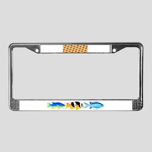 Fire Clownfish Pattern License Plate Frame