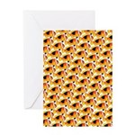Fire Clownfish Pattern Greeting Cards