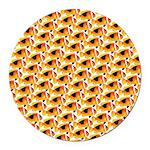 Fire Clownfish Pattern Round Car Magnet