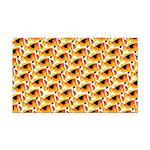 Fire Clownfish Pattern Rectangle Car Magnet