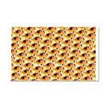 Fire Clownfish Pattern Car Magnet 20 x 12