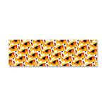 Fire Clownfish Pattern Car Magnet 10 x 3