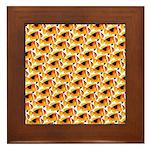 Fire Clownfish Pattern Framed Tile