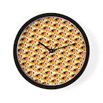 Fire Clownfish Pattern Wall Clock