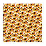 Fire Clownfish Pattern Tile Coaster