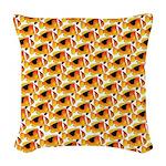 Fire Clownfish Pattern Woven Throw Pillow