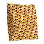 Fire Clownfish Pattern Burlap Throw Pillow