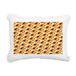 Fire Clownfish Pattern Rectangular Canvas Pillow