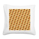 Fire Clownfish Pattern Square Canvas Pillow
