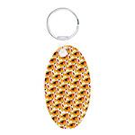 Fire Clownfish Pattern Keychains
