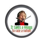 Takes a Hillage anti-Hillary Wall Clock
