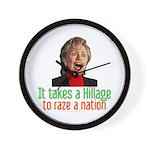 Takes a Hillage anti-Hillary Wall Clock