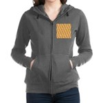 Fire Clownfish Pattern Women's Zip Hoodie