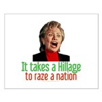 Takes a Hillage anti-Hillary Small Poster
